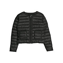 Buy Mango Water Repellent Foldable Jacket, Black Online at johnlewis.com