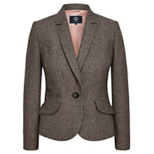 Buy VIyella Herringbone Riding Jacket, Mink Online at johnlewis.com