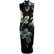 Buy Ted Baker Distinguishing Rose Dress, Black Online at johnlewis.com