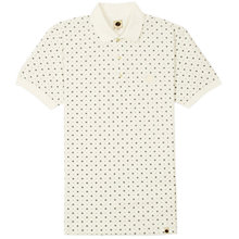 Buy Pretty Green Bankside Geo Print Polo Shirt, Cream Online at johnlewis.com