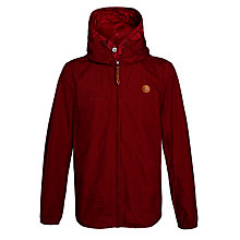 Buy Pretty Green Festival Jacket, Burgundy Online at johnlewis.com