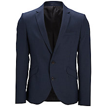 Buy Selected Homme Zero Slim Fit Jacquard Blazer, Navy Online at johnlewis.com