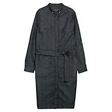 Buy Violeta by Mango Denim Shirt Dress, Navy Online at johnlewis.com