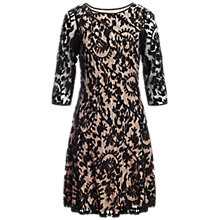 Buy Adrianna Papell Fit and Flare Dress, Black Online at johnlewis.com