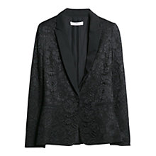 Buy Mango Guipure Blazer, Black Online at johnlewis.com