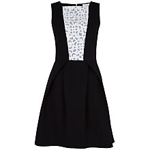 Buy Almari Laser Cut Contrast Dress, Black Online at johnlewis.com
