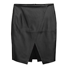 Buy Mango Slit Wrap Skirt, Black Online at johnlewis.com