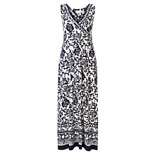 Buy East Samba Print Maxi Dress, Ink Online at johnlewis.com