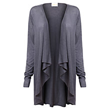 Buy East Linen Jersey Cardigan, Bluestone Online at johnlewis.com