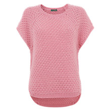 Buy Mint Velvet Candy Curved Hem Tabard Jumper, Pink Online at johnlewis.com