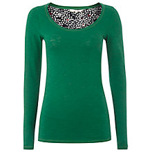 Buy White Stuff Bonita Cotton Top, Conifer Online at johnlewis.com