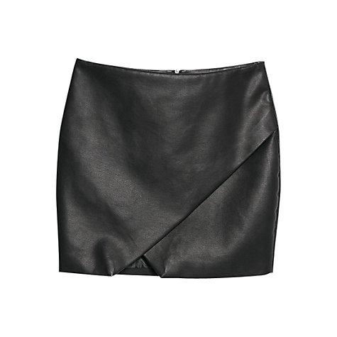 buy mango faux leather origami skirt black lewis