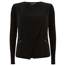 Buy Mint Velvet Double Zip Cardigan, Black Online at johnlewis.com
