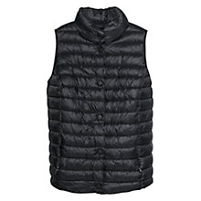 Buy Violeta by Mango Ultra Light Foldable Gilet, Black Online at johnlewis.com