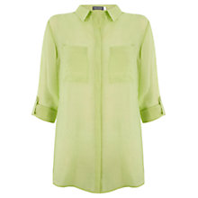 Buy Mint Velvet Slim Shirt, Lime Green Online at johnlewis.com