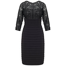 Buy Adrianna Papell Passementary Embroidery Banded Dress, Black Online at johnlewis.com