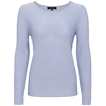 Buy Jaeger Alpaca Crew Neck Jumper, Ice Blue Online at johnlewis.com