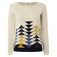 Buy White Stuff Pinecone Jumper, Milk White Online at johnlewis.com
