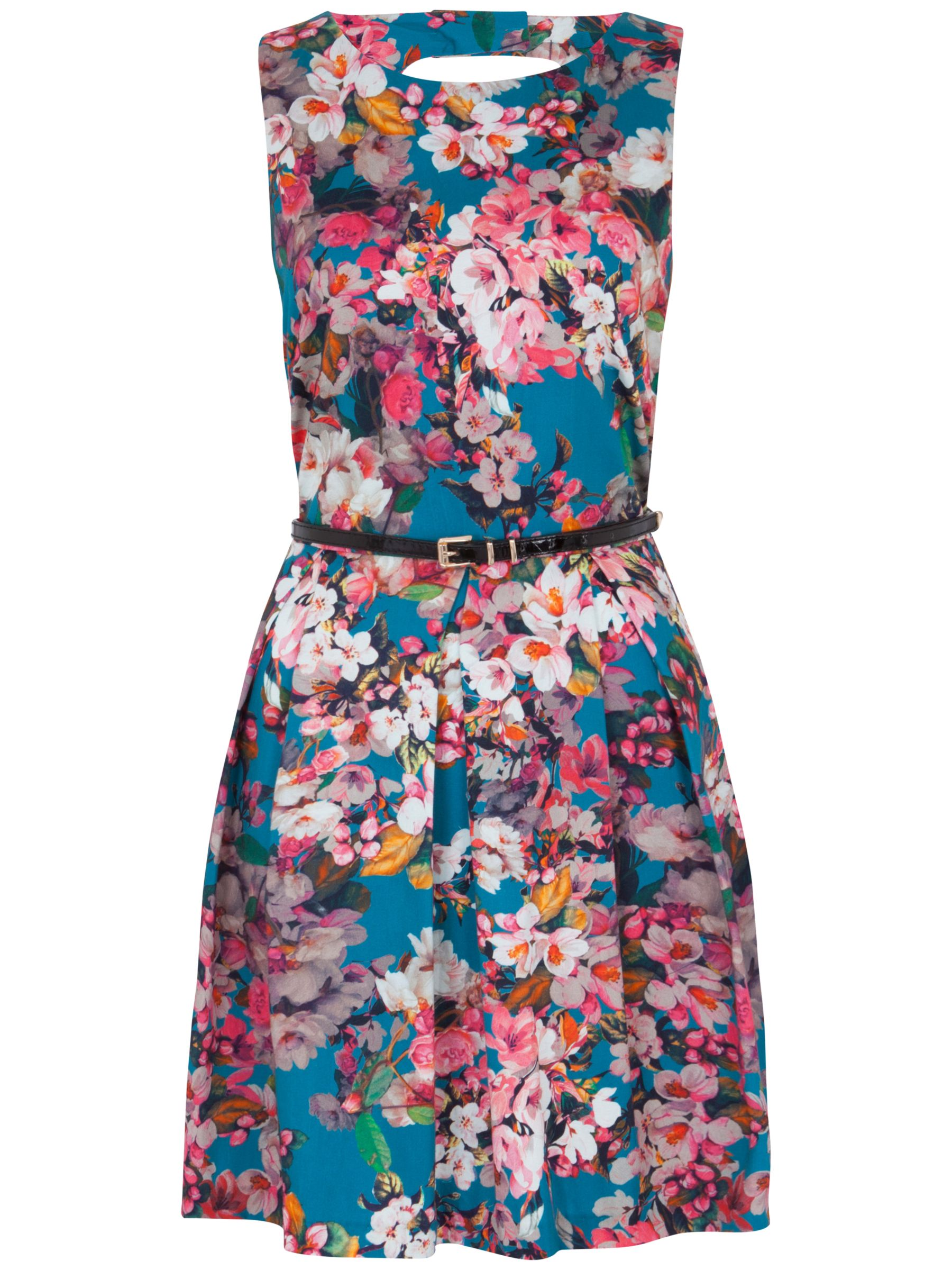 almari floral cut-out back dress multi, almari, floral, cut-out, back, dress, multi, 8|10|12|14, clearance, womenswear offers, womens dresses offers, winter sun, women, inactive womenswear, new reductions, womens dresses, buy now save for spring, special offers, 1797394