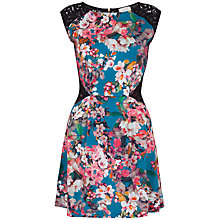 Buy Almari Lace Panel Floral Dress, Multi Online at johnlewis.com