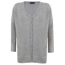 Buy Mint Velvet Lichen Overdye Cardigan, Green Online at johnlewis.com