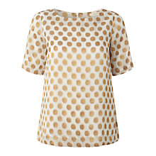 Buy White Stuff Metallic Jacquard Top, Moonshine Online at johnlewis.com