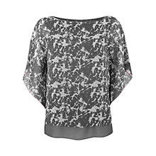Buy Mint Velvet Tessie Print Double Layer Top, Multi Online at johnlewis.com
