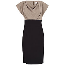 Buy Almari Contrast Glitter Cowl Dress, Gold Online at johnlewis.com