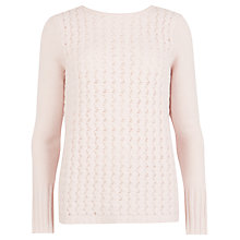 Buy Ted Baker Zig Zag Stitch Wool Jumper, Straw Online at johnlewis.com