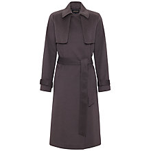 Buy Jaeger Cashmere Deconstructed Trench Coat, Mole Online at johnlewis.com