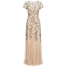 Buy Adrianna Papell Godet Gown, Taupe/Pink Online at johnlewis.com