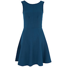 Buy Almari V-Back Panel A-Line Dress, Teal Online at johnlewis.com