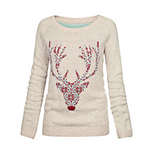 Buy Fat Face Orkney Fairisle Deer Jumper, Ivory Online at johnlewis.com
