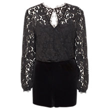 Buy Coast Rach Playsuit, Black Online at johnlewis.com