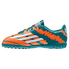 Buy Adidas Children's Messi Football Boots, Teal Online at johnlewis.com