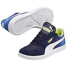 Buy Puma Children's Icra Suede Trainers, Peacoat Blue Online at johnlewis.com