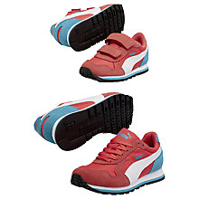Buy Puma Children's Runner Suede Trainers, Orange/Blue Online at johnlewis.com