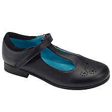 Buy John Lewis Angel T-Bar Brogue Pumps, Black Online at johnlewis.com