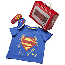 Buy Puma Children's Suede Superman Crib Shoes, Blue/Red Online at johnlewis.com