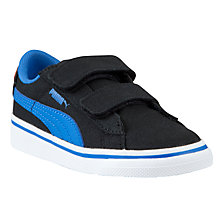 Buy Puma Superman V Kids' Canvas Trainers, Black/Blue Online at johnlewis.com
