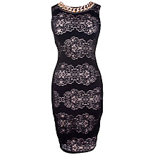 Buy Rise Sarah Lace Bodycon Dress, Black Online at johnlewis.com