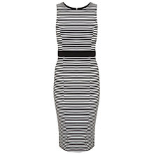 Buy Miss Selfridge Monochrome Stripe Pencil Dress, Black / White Online at johnlewis.com