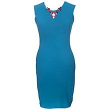 Buy Rise Deeley Bodycon Dress, Teal Online at johnlewis.com