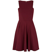 Buy Closet Waffle Cut Out Shoulder Dress, Burgundy Online at johnlewis.com