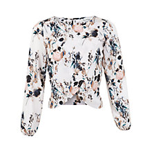 Buy Miss Selfridge Abstract Cross Front Top, Multi Online at johnlewis.com