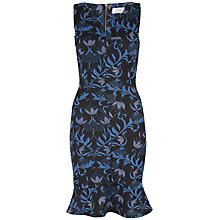 Buy Closet Floral Peplum Hem Dress, Blue Online at johnlewis.com