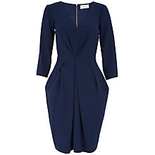 Buy Closet Big Pleat Dress, Navy Online at johnlewis.com
