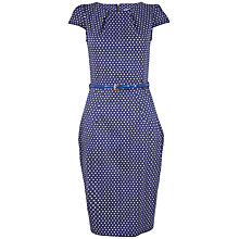 Buy Closet Polka Dot Belted Dress, Navy Online at johnlewis.com