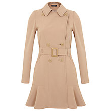 Buy Miss Selfridge Peplum Hem Coat, Camel Online at johnlewis.com