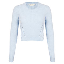 Buy Miss Selfridge Chenille Jumper, Blue Online at johnlewis.com